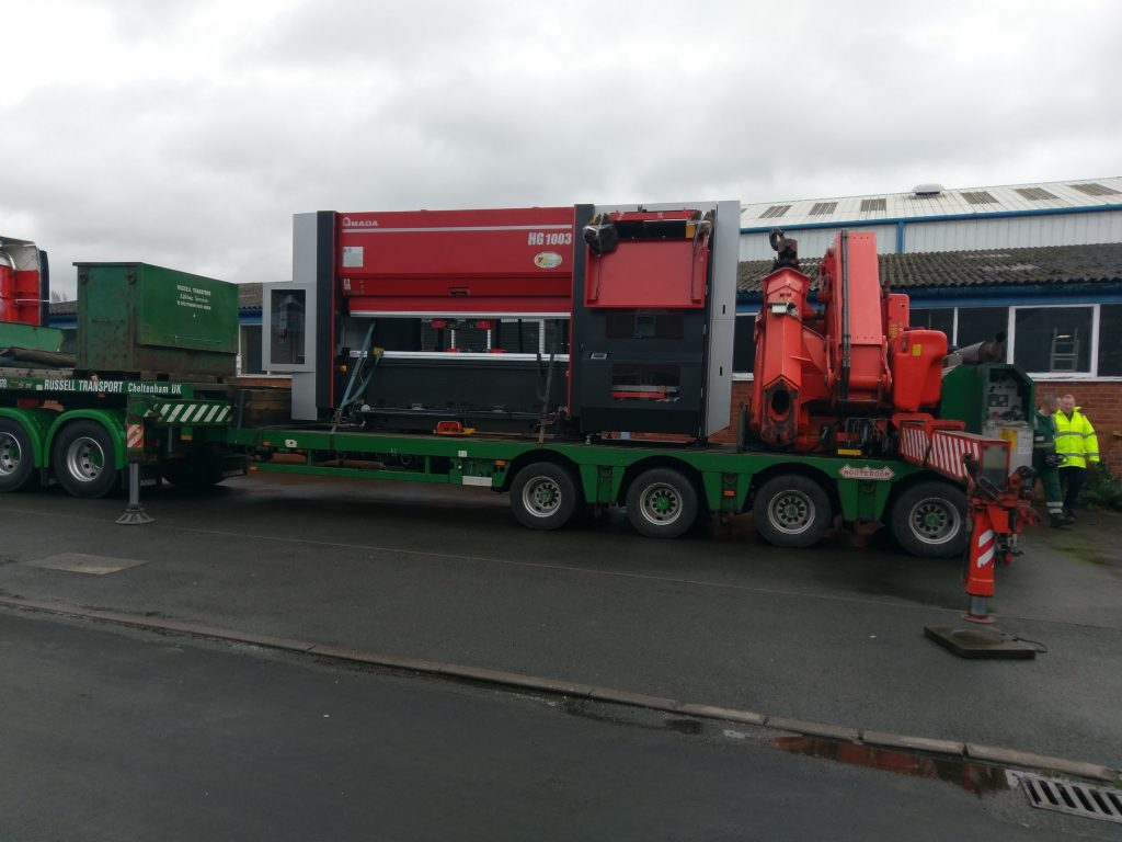 New Amada press brake arrives at Beakbane